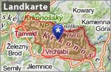 Riesengebirge auf der Landkarte Banner DE