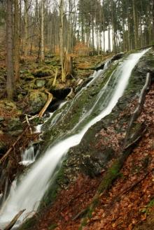 Wasserfall Huťský vodopád, Riesengebirge, Foto: Archiv Vydavatelství MCU s.r.o.