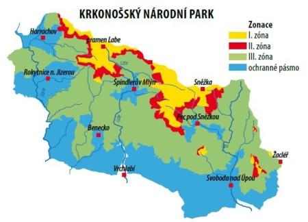 Krkonošský národní park - zonace