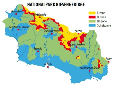 Nationalpark Riesengebirge - Zonen