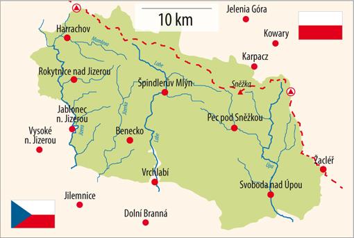 Mapa Krkonoš, foto: Vydavatelství MCU s.r.o.